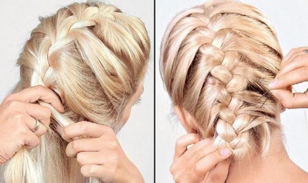 -на-длинные-волосы-3-600x357 Французская коса наоборот – как плести косичку: пошагово