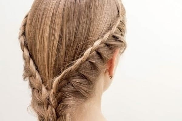 коса с одним подхватом