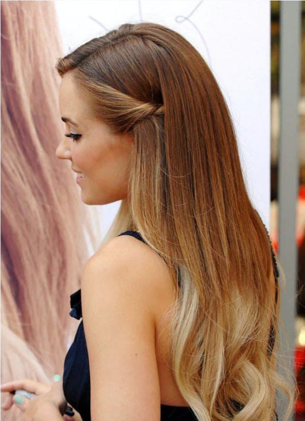 омбре на светлых волосах