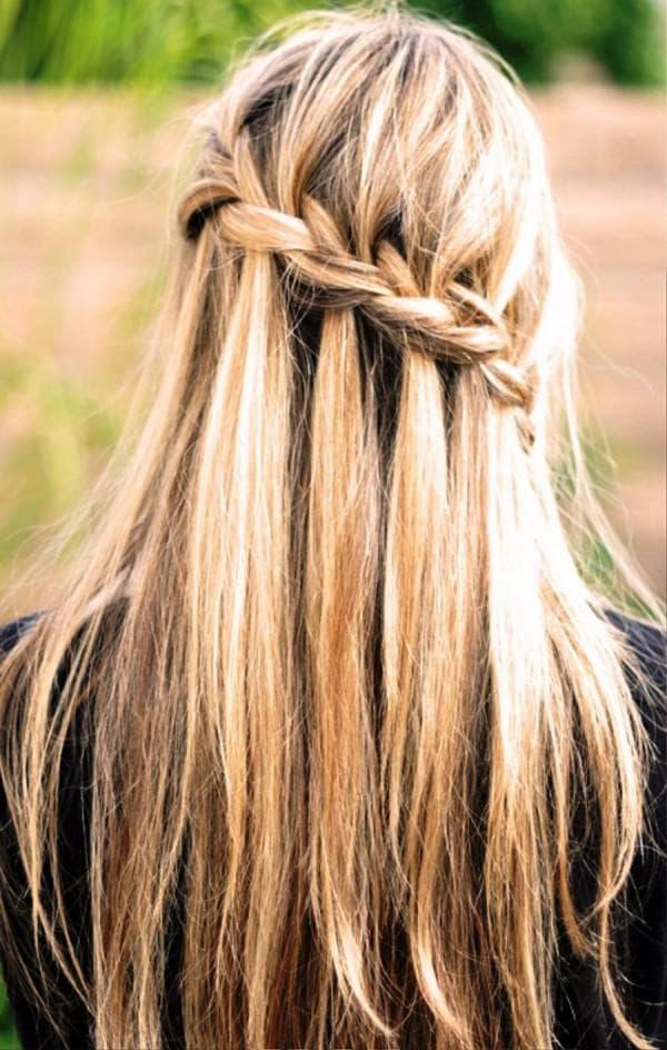плетение на средние волосы