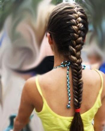 красивые косы самой себе