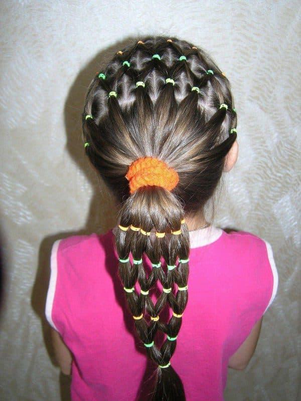 прически для девочки на каждый день в детский сад