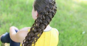 ажурная французская коса
