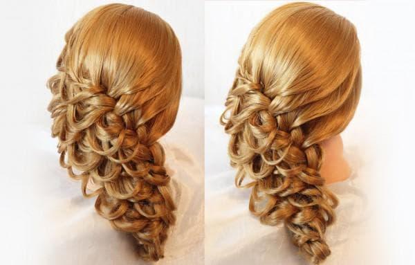 плетение кос при помощи резиночек