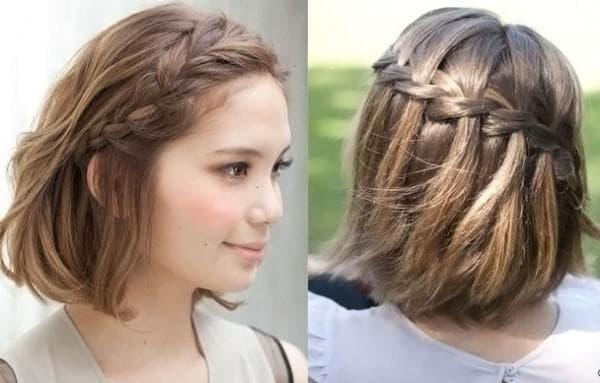 прически на волосы до плечей