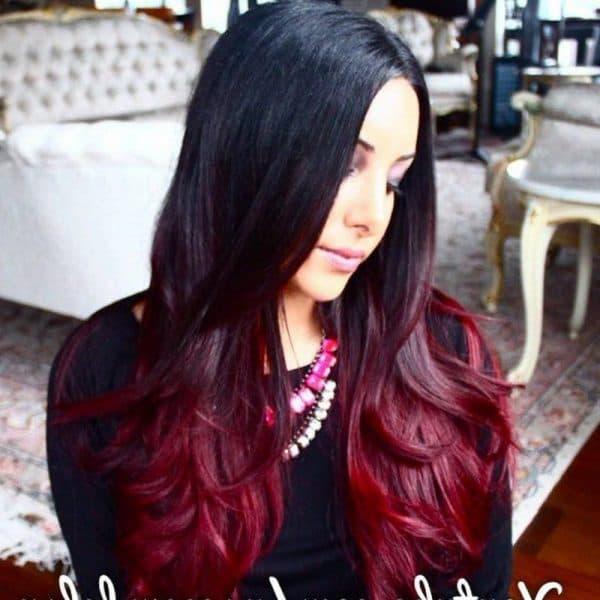 темно красный цвет волос
