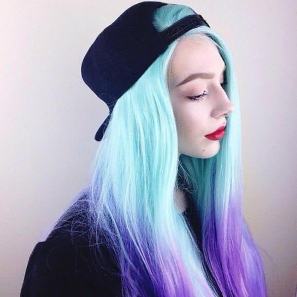волосы необычных цветов